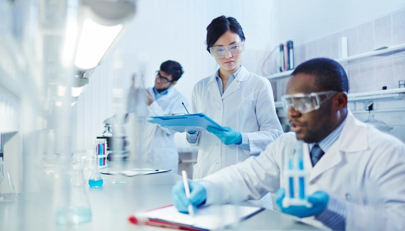 Research scientists in lab